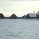 4 Chalets in snow