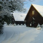 Hardy & Wessex Chalet in snow