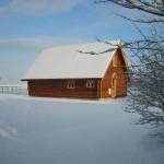 Melbury Chalet in snow