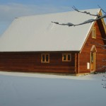 Melbury Chalet in snow