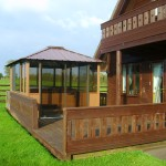 Sis seater hot tub with fuly enclosed gazebo